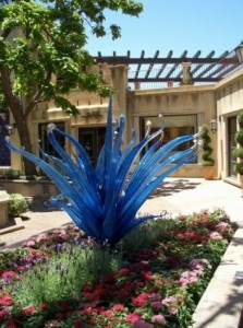 blue agave scupture