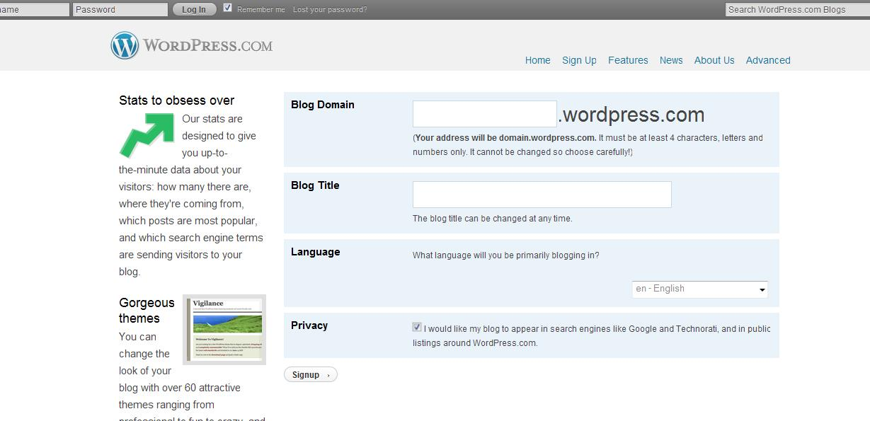WP.com domain