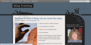 Blog training pic 300x149 Should You Set Up Your Own Blog?
