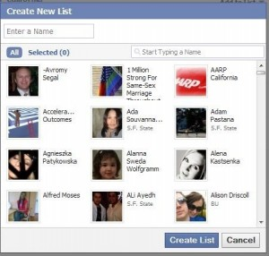 FB Create New List Drop Down2 300x286 What You Can Do With Your Facebook Friends