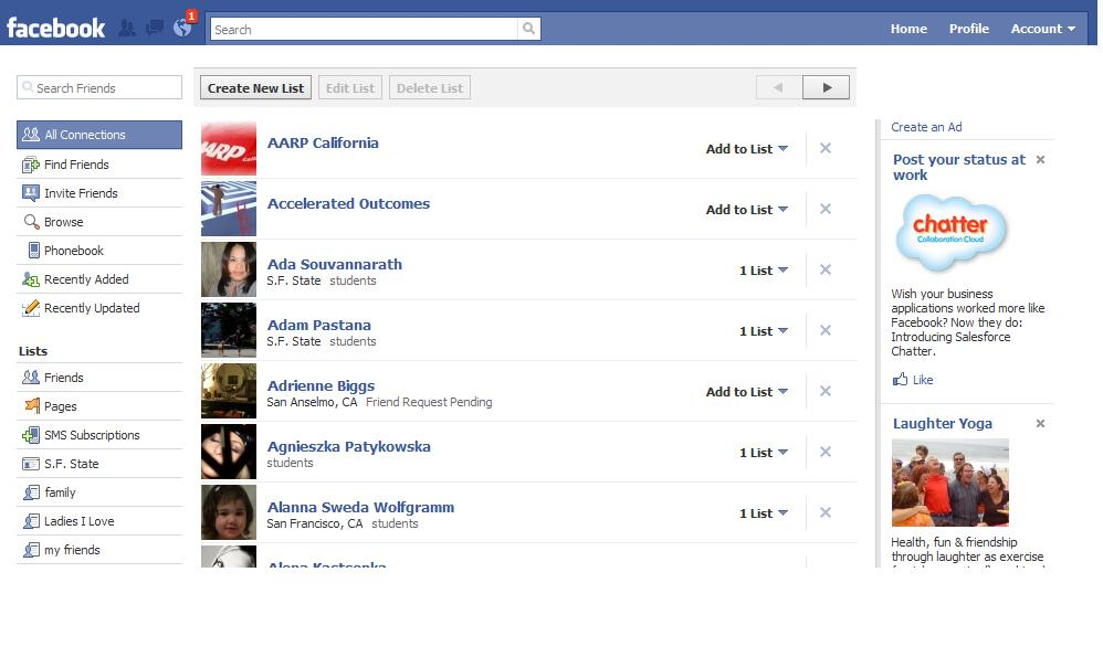 FB Create New List page What You Can Do With Your Facebook Friends