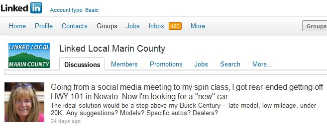 Linked Local Marin Genesis1 How I Used LinkedIn to Buy My New Car