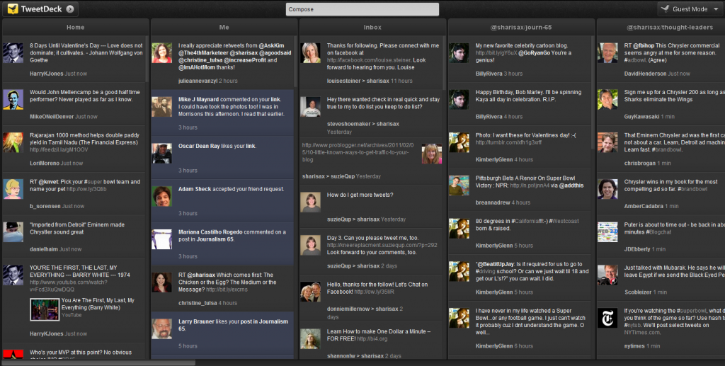 TweetDeck1 1024x517 Organize your Tweeting with a Social Dashboard: TweetDeck installation tutorial: Feb 2011