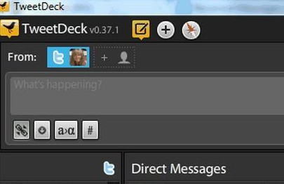 Tweetdeck top left1 Adding columns to your TweetDeck Social Dashboard