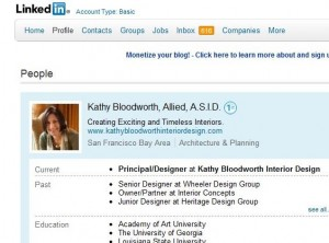 Kathy Bloodworth LinkedIn 300x222 10 Steps to Update your LinkedIn Profile for Maximum Find ability