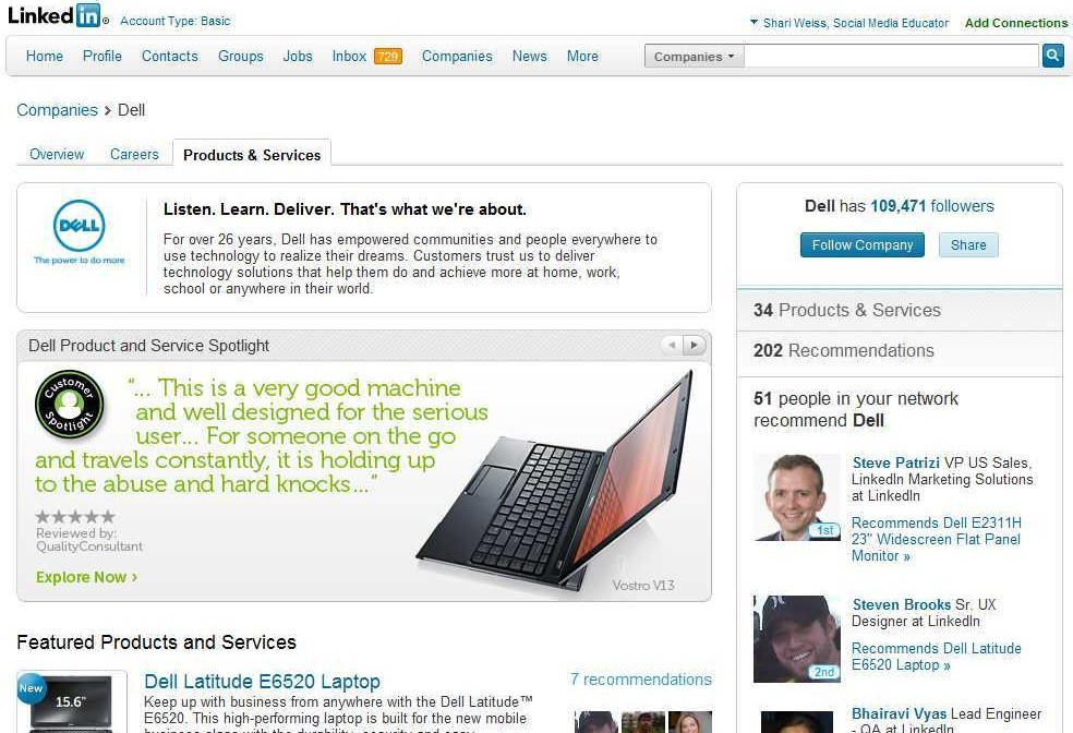 Post Thumbnail of POWER UP LinkedIn Company Pages by adding Products & Services