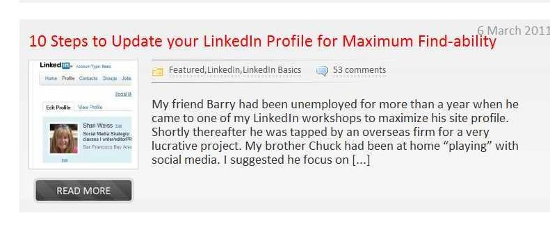 Build your LinkedIn profile to get found online