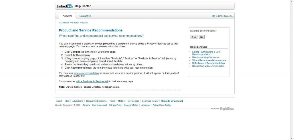 LinkedIn Product and Service Recommendations 1024x490 POWER UP LinkedIn Company Pages by adding Products & Services