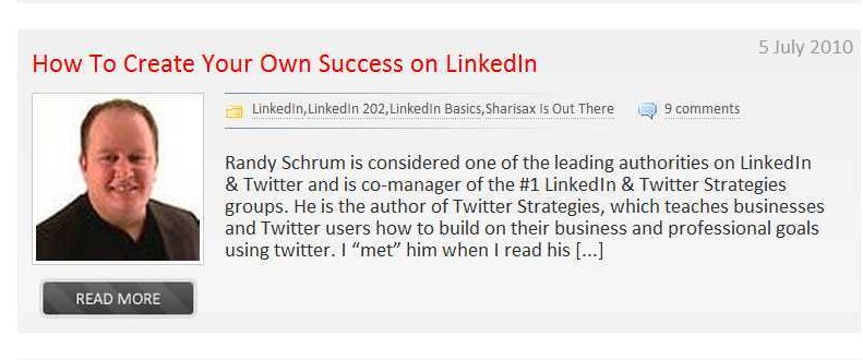 LinkedIn expert Randy Schrum gives great tips for LinkedIn success