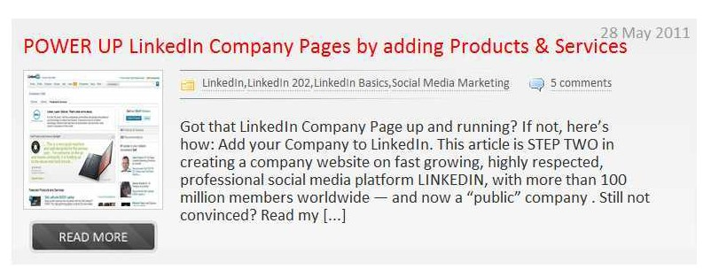 Add your products and services on your LinkedIn Company page