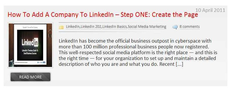 Put your company on a special LinkedIn page
